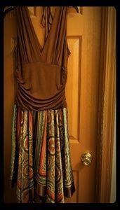 Multicolor handkerchief dress